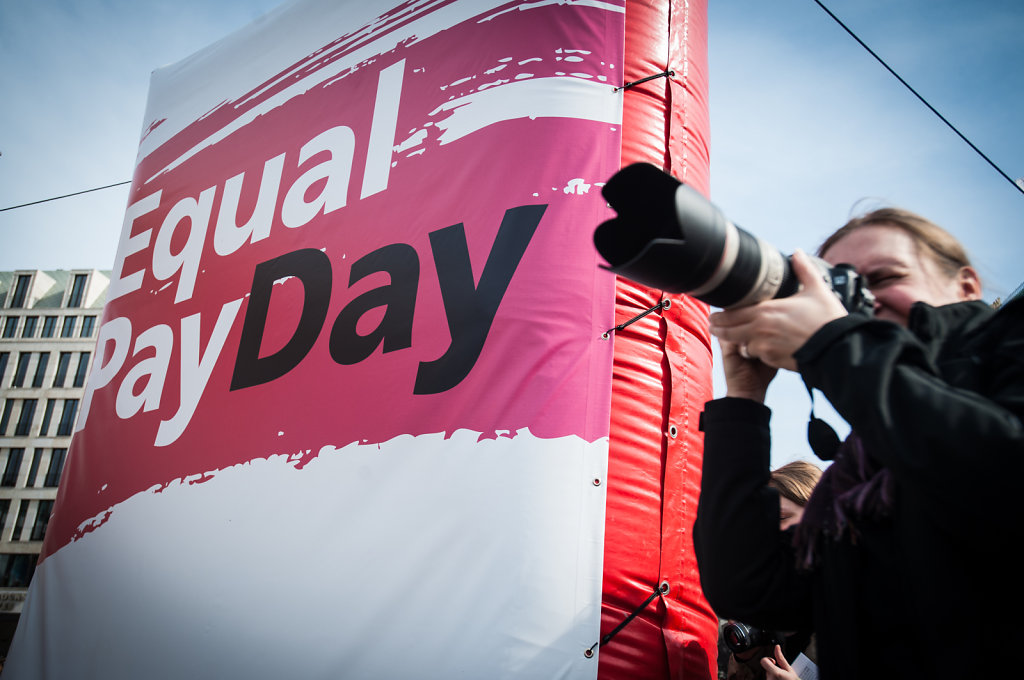 DGB-Kundgebung: Equal Pay Day